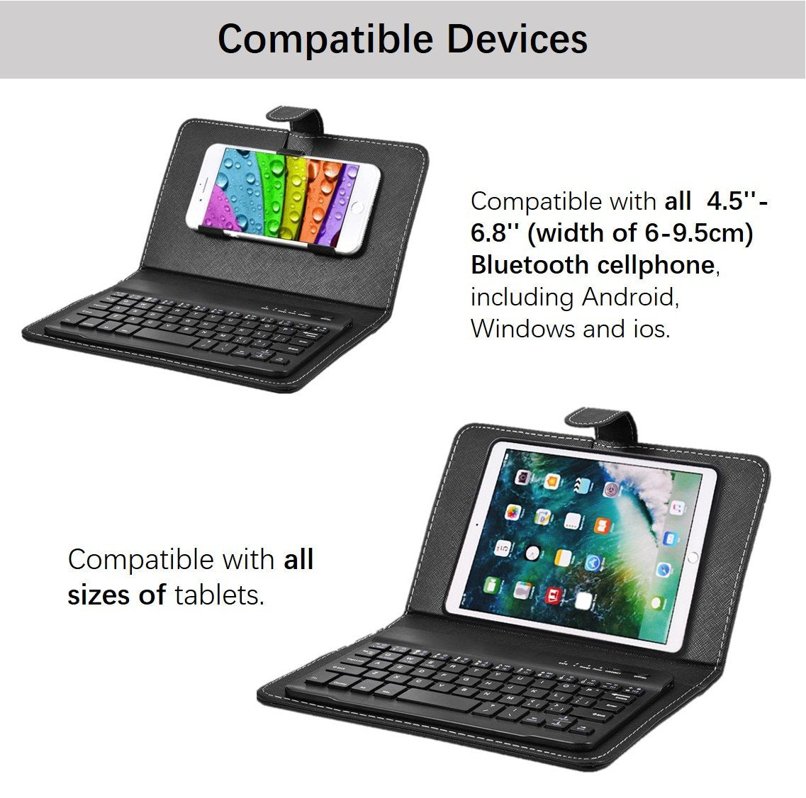Wireless Bluetooth Keyboard With Protective Cover