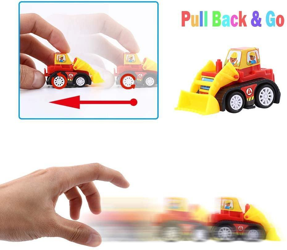 12 Pcs Easter Eggs Filled with Pull-Back Construction Vehicles