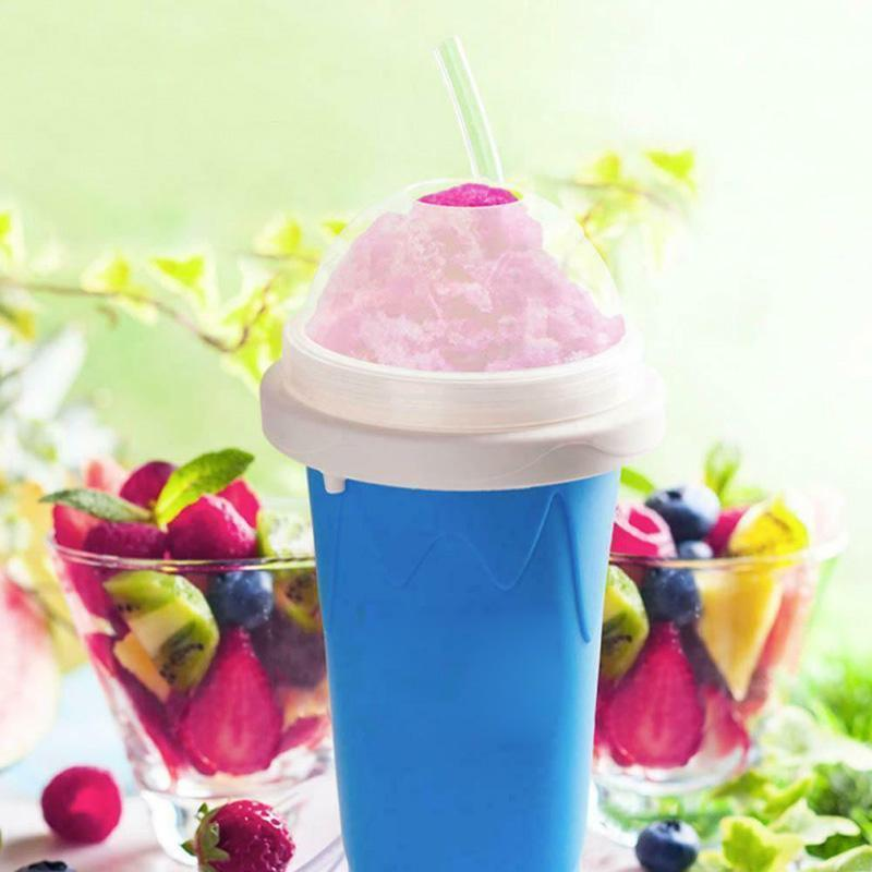 FrostCup - Instant Frozen Slushy Maker Cup Frozen Ice Cream - Blue - Ice Cream Makers