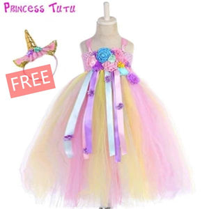 【Today 50% OFF&Free Unicorn Headband】TuTu Unicorn Dress