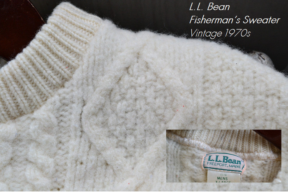 L.L. Bean Fisherman's Sweater ApplePickerVintage on Etsy