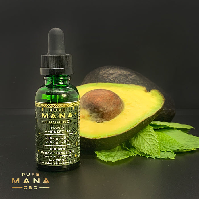 Mint Mana Oil: Broad Spectrum Nano-Amplified CBD Oil - Pure Mana CBD