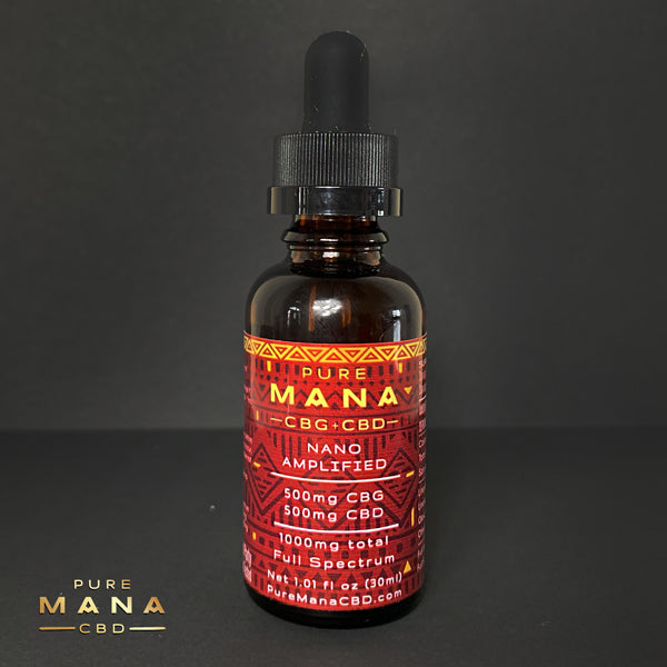 CBG+CBD Mana Oil: Full Spectrum Nano-Amplified CBG+CBD Oil - Pure Mana CBD