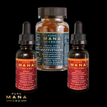 Load image into Gallery viewer, F🎗CK Cancer Stack: Multivitamin + 2 Mana Oils - Pure Mana CBD