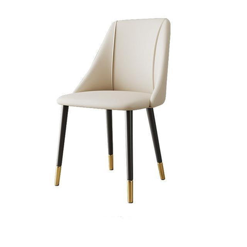 Chaise Scandinave </br> Cuir Blanc Moderne