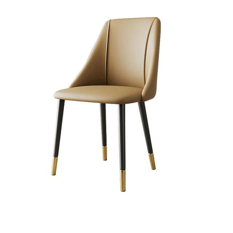 Chaise Scandinave </br> Cuir Moderne