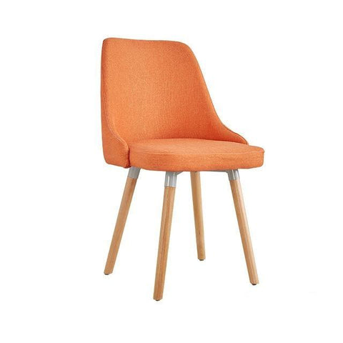 Chaise Scandinave </br> Lin Orange  Moderne