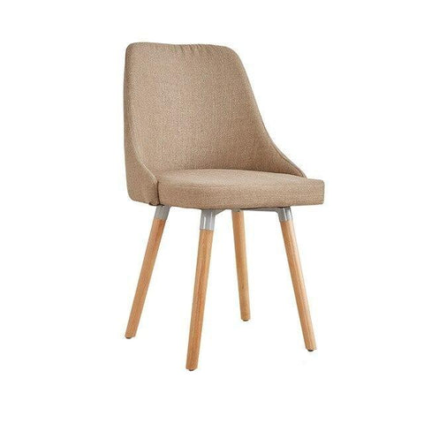 Chaise Scandinave </br> Lin Taupe Moderne