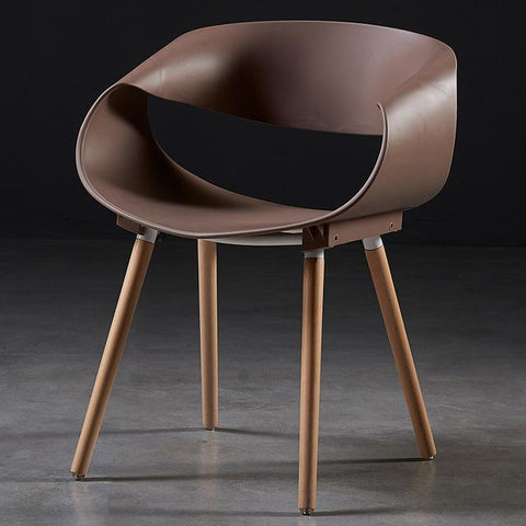 Chaise Scandinave </br> Marron Design
