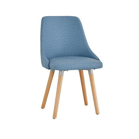Chaise Scandinave </br> Lin Bleue Moderne