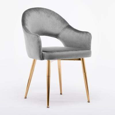 Chaise Scandinave </br> Velours Gris HOLLOW