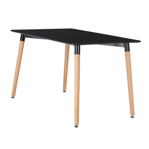 Table Scandinave </br> Noire Rectangulaire CLASSIC