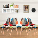 Chaise Scandinave </br> Tissu Patchwork (Lot de 4)