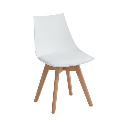 Lot de 2 Chaises </br> Blanches Scandinaves TULIPE 2