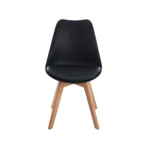 Lot de 4 Chaises </br> Scandinaves Noires TULIPE