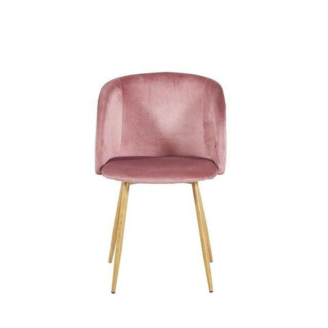 Chaise Scandinave </br> Velours Vintage ALOE