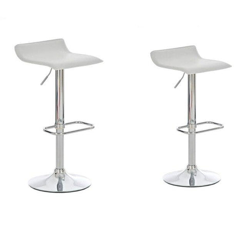 Tabouret de Bar Scandinave </br> Blanc Réglable PIVO (Lot de 2)