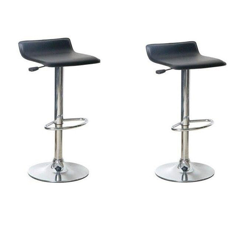 Tabouret de Bar Scandinave </br> Noir Réglable PIVO (Lot de 2)
