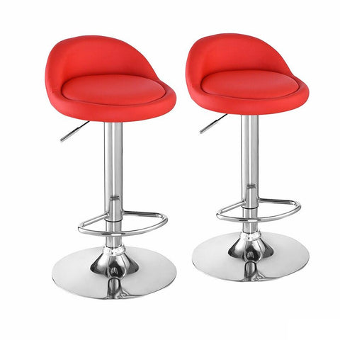 Tabouret de Bar Scandinave </br> Pivotant  Rouge PANAMA (Lot de 2)