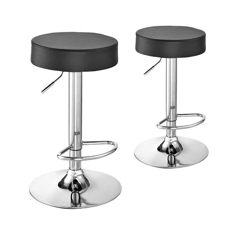 Tabouret de Bar Scandinave </br> Réglable Noir REGISTER (Lot de 2)