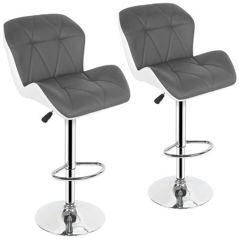 Tabouret de Bar Scandinave </br> Réglable Gris LUXURY (Lot de 2)