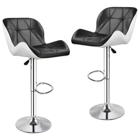 Tabouret de Bar Scandinave </br> Réglable Noir LUXURY (Lot de 2)
