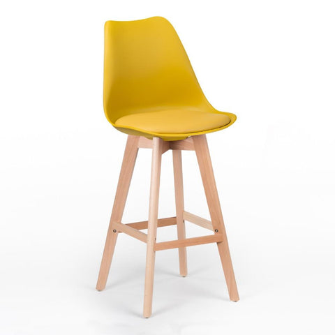 Tabouret de Bar </br> Scandinave Curry TULIPE - Deco Nordique