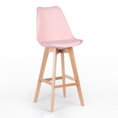 Tabouret de Bar </br> Scandinave Rose TULIPE - Deco Nordique