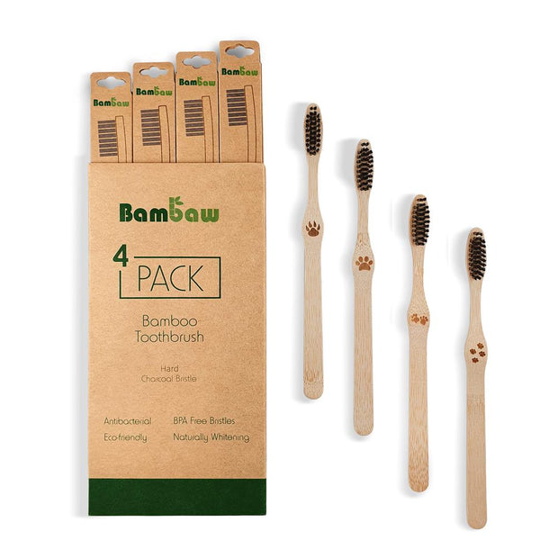 Brosses à Dents en Bambou (Pack de 4)