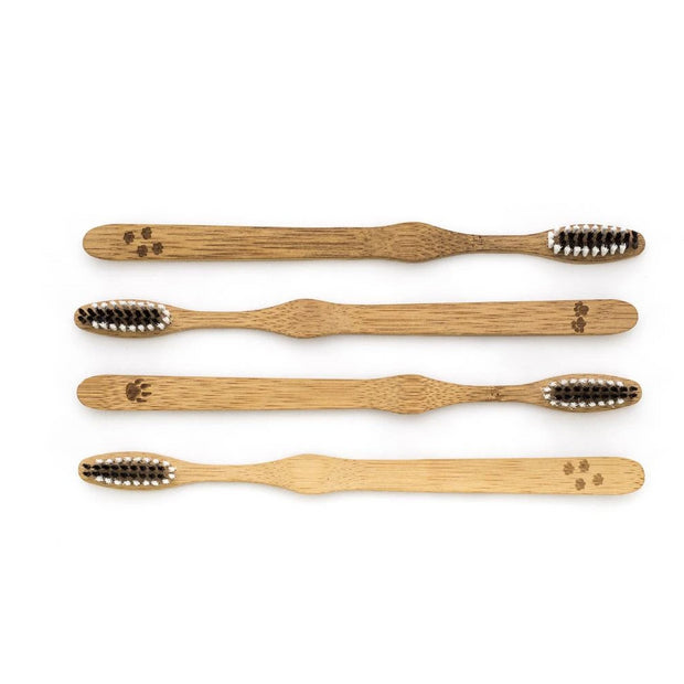 Bamboo Toothbrushes (Pack of 4)-Bambaw-Kami Store