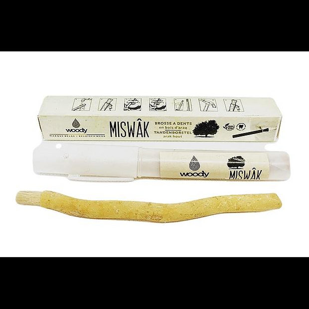 Miswak Toothbrush with Holder-Woody-Kami Store
