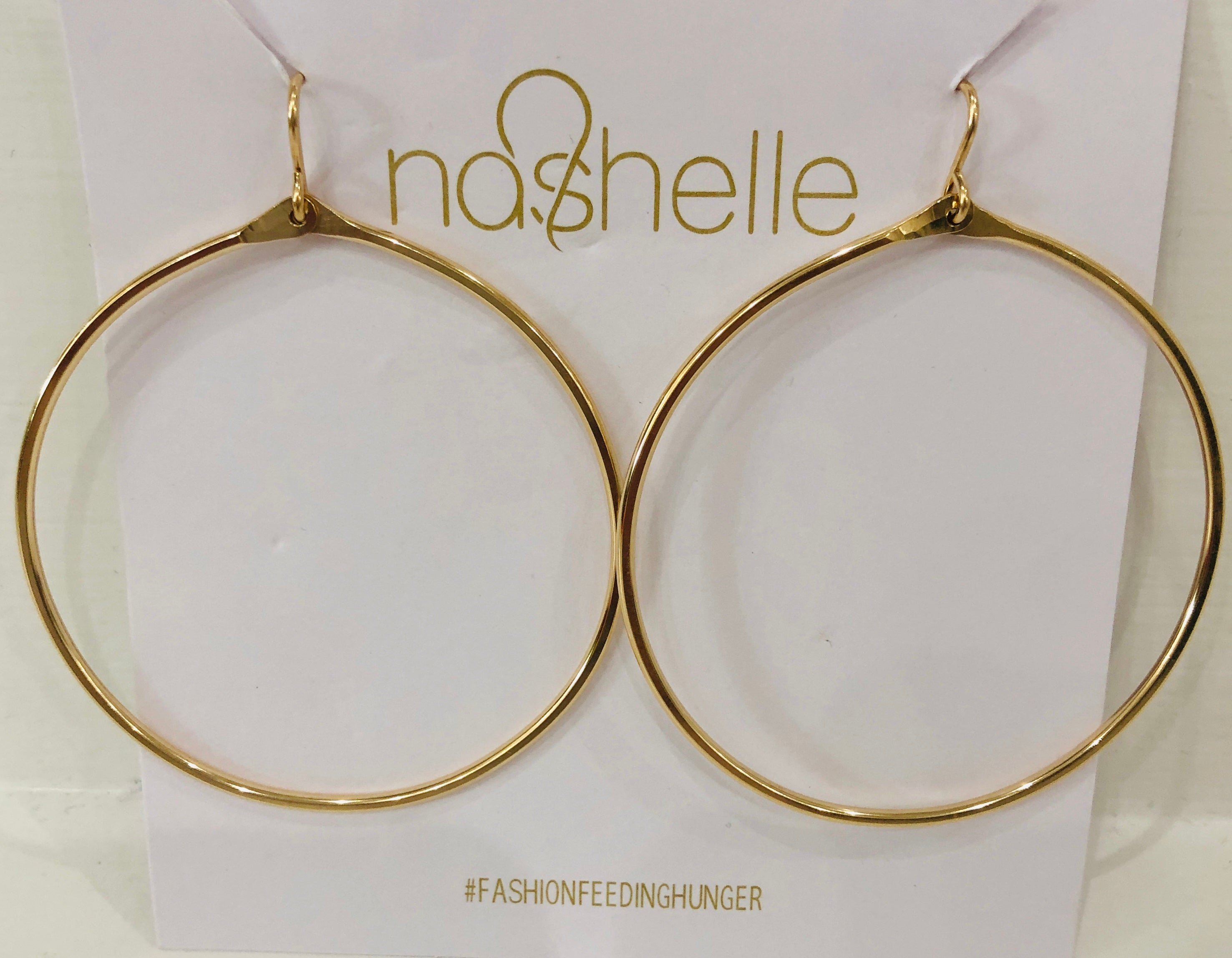 nashelle 14K Gold Dipped Large Hoops