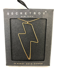 Lightening Bolt 24K Dipped Necklace