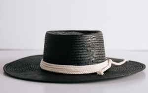 GIGI PIP Bre Black Straw Hat
