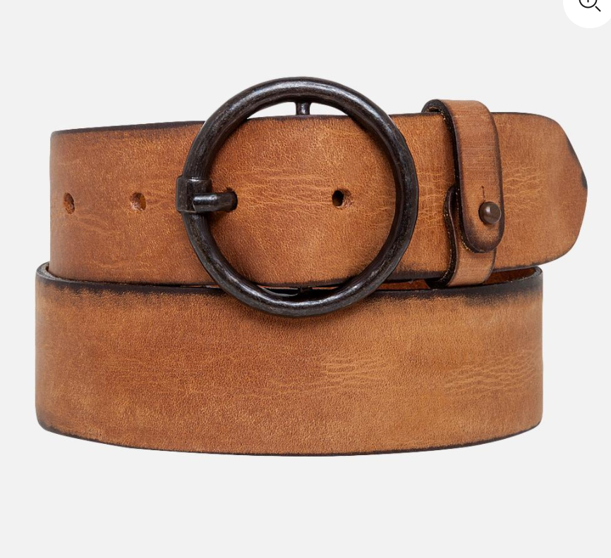 Cognac Circle Thick Belt