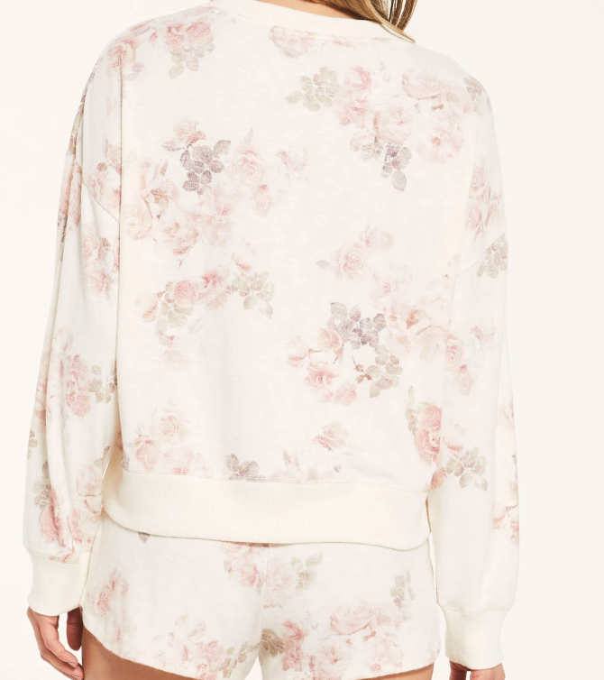 Z Supply Floral Comfy Sweatshirt