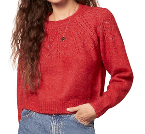 BB Dakota Holiday Crimson Sweater