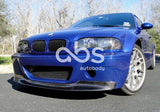BMW E46 M3 CSL 1 PIECE CARBON FIBER FRONT LIP FOR CSL BUMPER ONLY