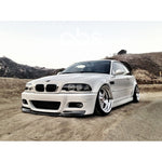 BMW E46 M3 CSL STYLE 1 PIECE CARBON FIBER FRONT LIP FOR M3 BUMPER ONLY