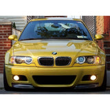 BMW E46 M3 CSL STYLE CARBON FIBER SPLITTERS FOR OEM E46 M3 BUMPERS