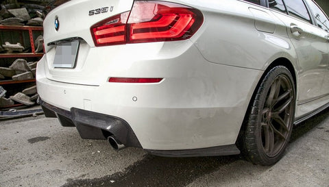 BMW F10 M5 M Sport Carbon Fiber Rear Bumper Side Skirts