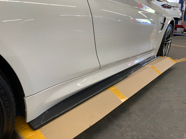 BMW F8X M4 GTS Style Carbon Fiber Side Skirts