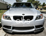 BMW E90/ E92 V STYLE CARBON FIBER FRONT LIP FOR M3 REP BUMPER