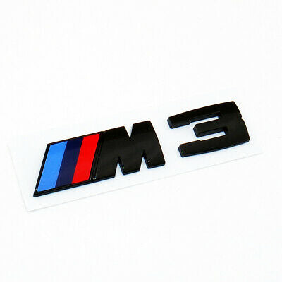 "BMW E92 M3 GLOSS BLACK ""M3"" BADGE"