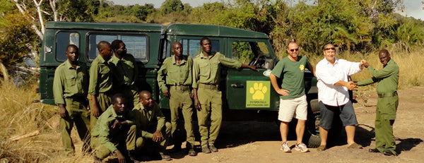 Anti Poaching Unit in Victoria Falls Zimbabwe Pose for a Photo