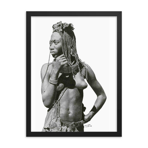 Lemington Muzhingi - Himba Lady - Framed