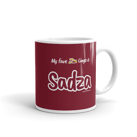 """Sadza"" on Red Mug"