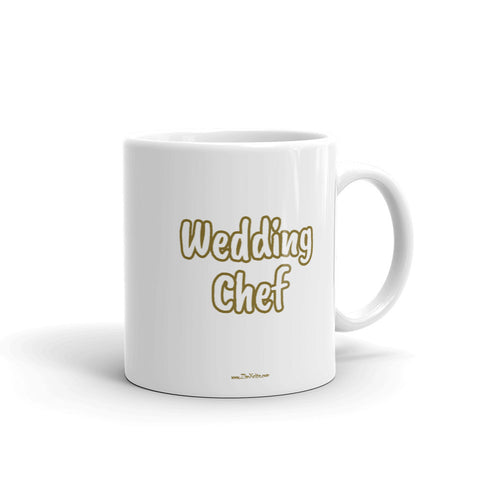 Wedding Chef Mug GOLD