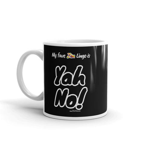 """Yah No!"" on Black Mug"