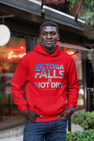 """Vic Falls is Not Dry"" on Unisex Heavy Blend Hoodie in COLOURS"